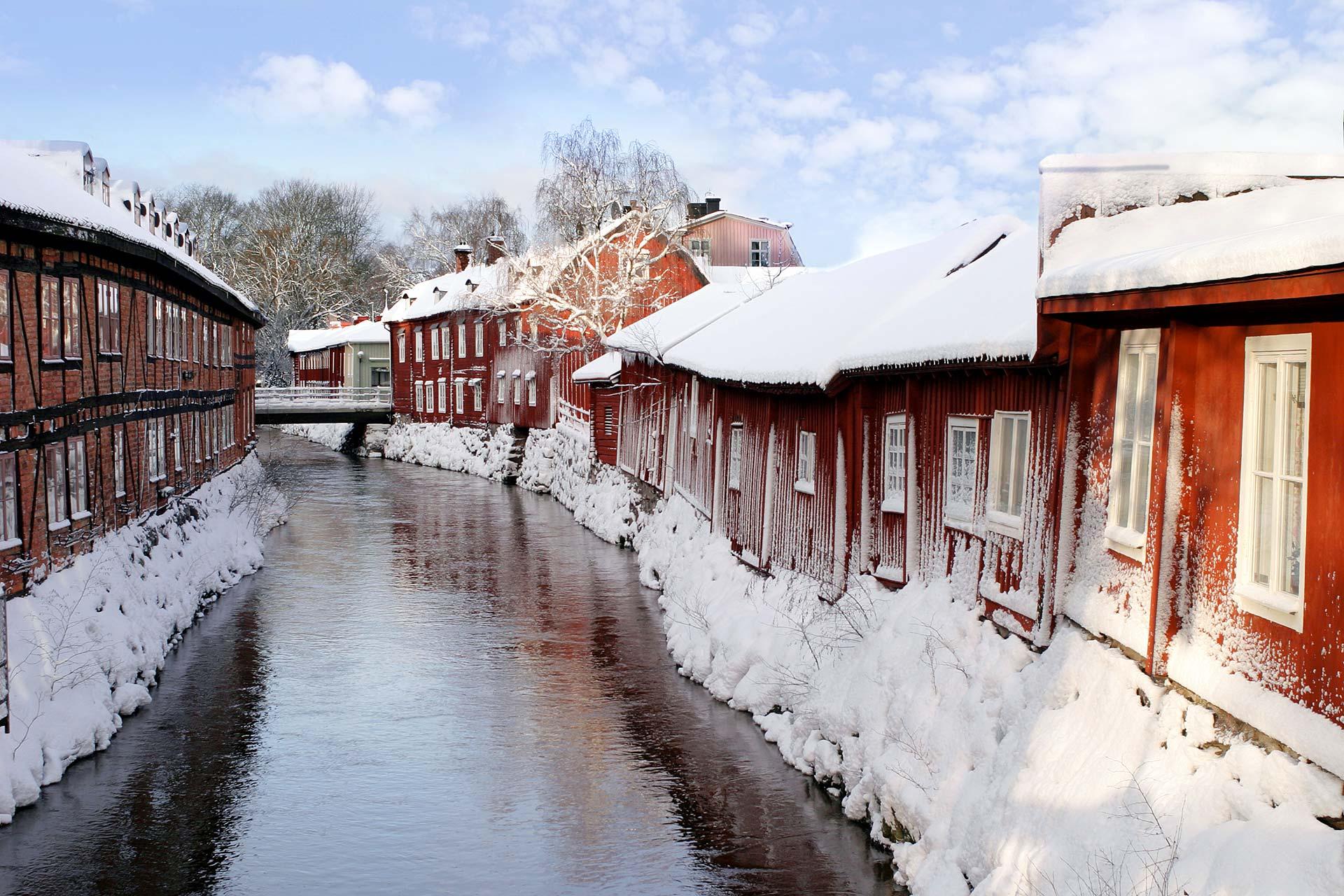 Vinterlandskap vid Svartån i Västerås. Fotograf: Clifford Shirley