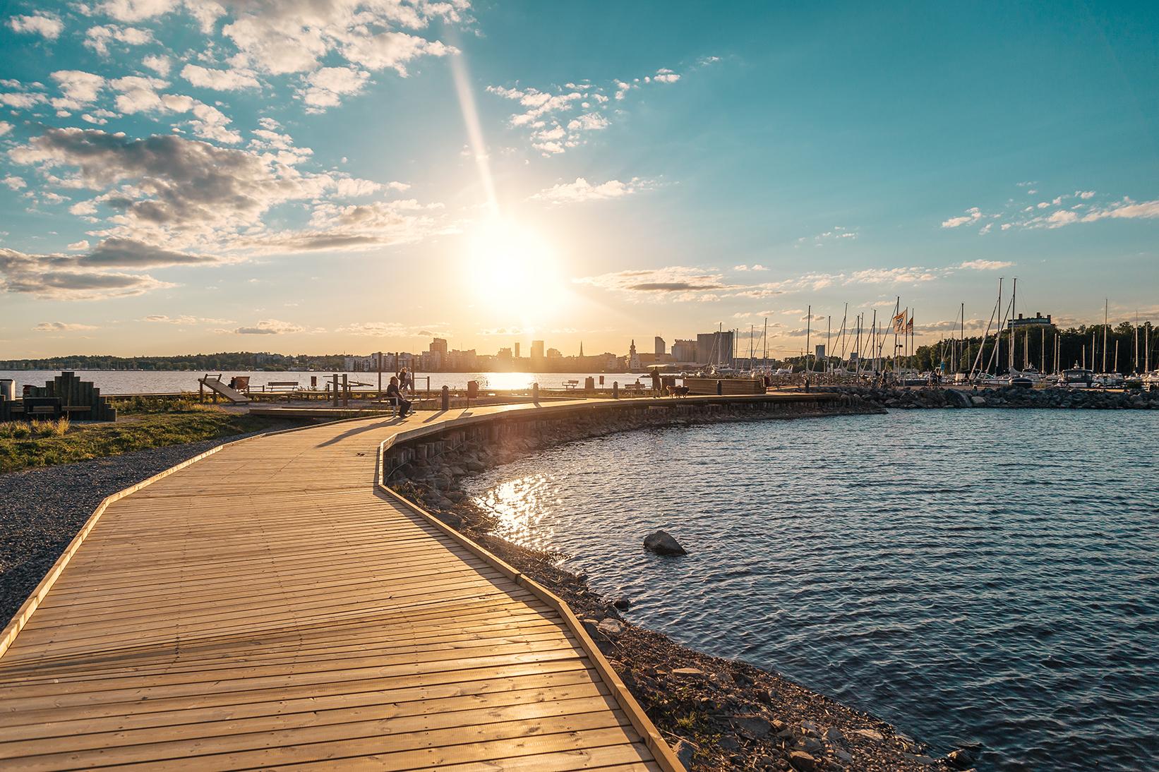 Solnedgång över Mälaren. Fotograf: Avig Photo